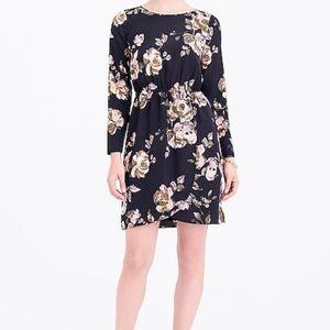 J. Crew Tulip Hem Floral Long Sleeve Dress 10
